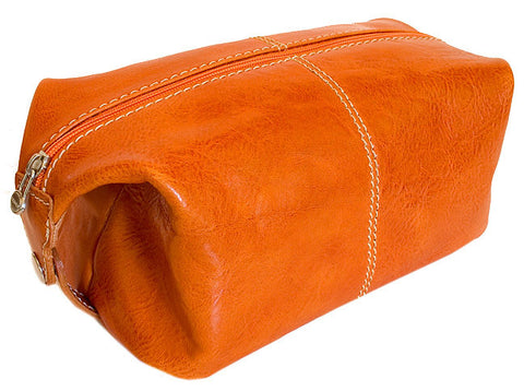 FLOTO Venezia Leather Travel Kit Orange