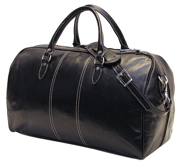 FLOTO Venezia Leather Duffle Black