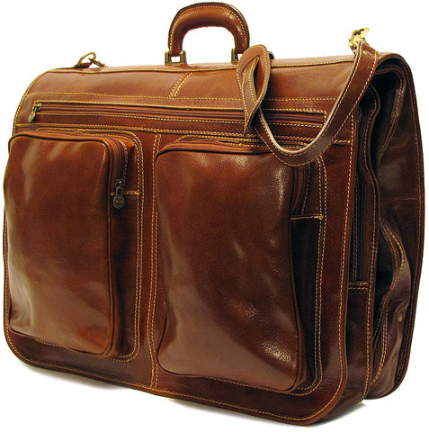 FLOTO Venezia Leather Garment Bag Vecchio Brown
