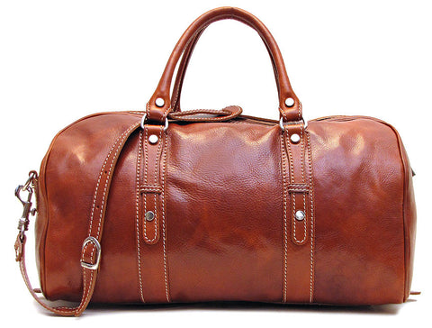 FLOTO Venezia Piccola Duffle Olive Honey Brown