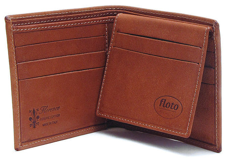 FLOTO Venezia Leather Wallet Saddle Brown