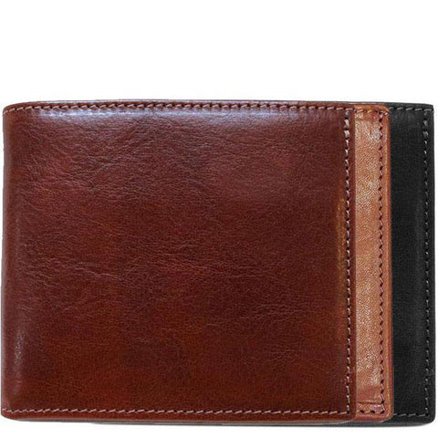 Floto Italian Leather Wallet Billfold Card Case Venezia colors