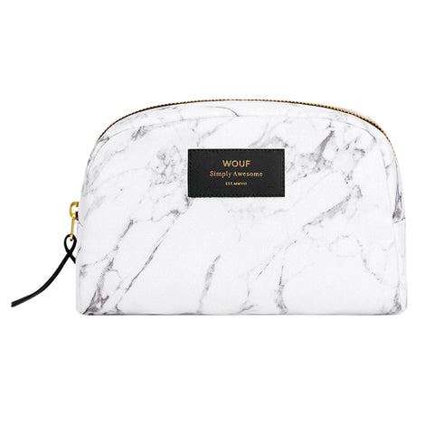 Wouf Big Beauty Case White Marble