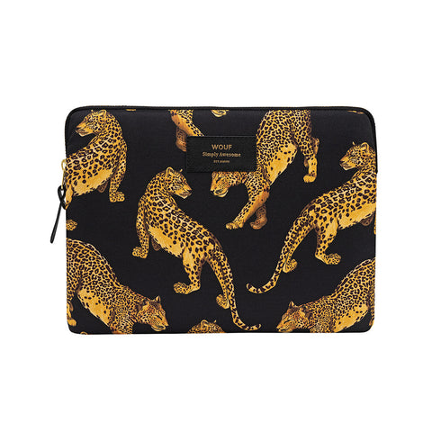Wouf Ipad Sleeve Black Leopard