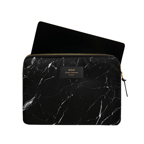 Wouf  Ipad Sleeve Black Marble