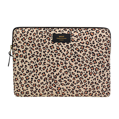 Wouf Laptop Sleeve Pink Savannah Leopard