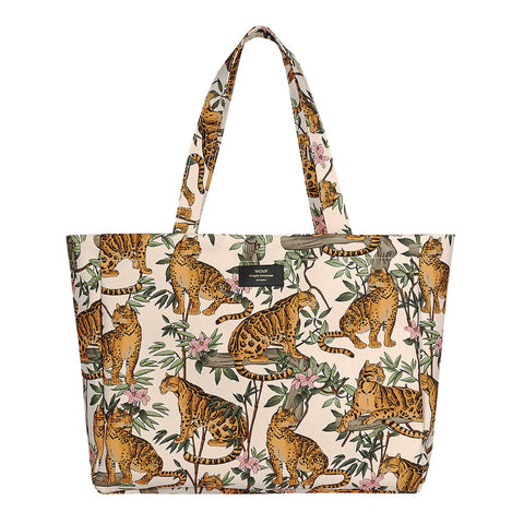 Wouf Large Tote Lazy Jungle Leopard