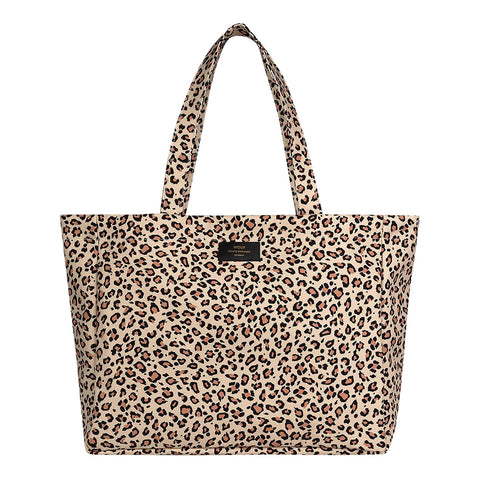 Wouf Large Tote Pink Savannah Leopard
