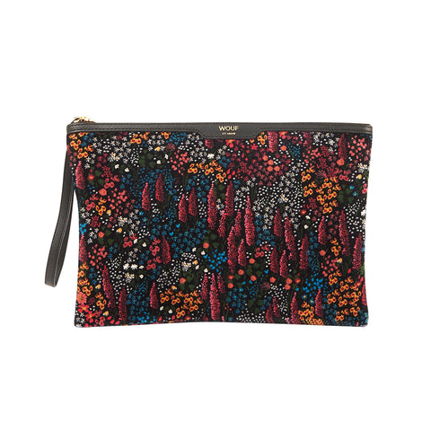 Wouf Night Clutch Leila Floral Black