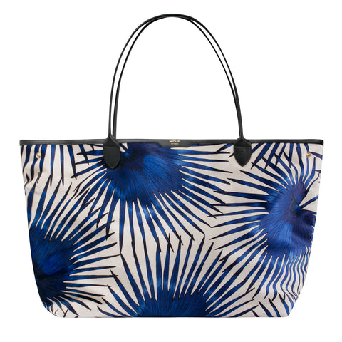 Wouf Tote Bag Blue Palms