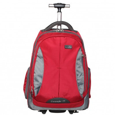 ZOOMLITE COMMUTER ROLLING LAPTOP BAG SMALL RED