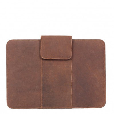 "ZOOMLITE Vintage Leather Parker 13"" Macbook Sleeve Camel"