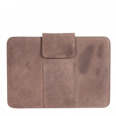 "ZOOMLITE Vintage Leather Parker 13"" Macbook Sleeve Grey"