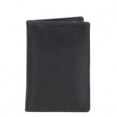 ZOOMLITE Classic Leather RFID Arlington Vertical Card Holder Black