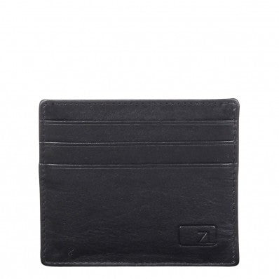 ZOOMLITE Classic Leather Arlington ID/Card Holder Black