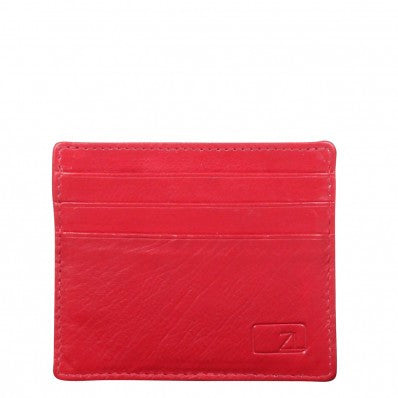 ZOOMLITE Classic Leather Arlington ID/Card Holder Red