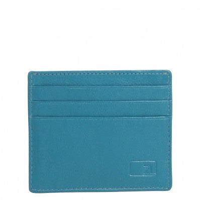 ZOOMLITE Classic Leather Arlington ID/Card Holder Turquoise
