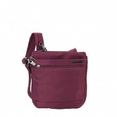 ZOOMLITE METROSHIELD ANTI-THEFT SLIM CROSSBODY BAG BERRY PURPLE