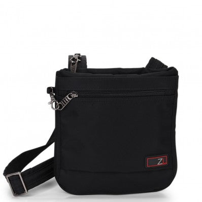 ZOOMLITE ANTI-THEFT SLIM CROSSBODY BAG BLACK