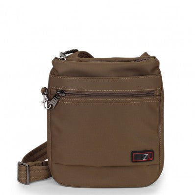 ZOOMLITE ANTI-THEFT SLIM CROSSBODY BAG KHAKI BROWN