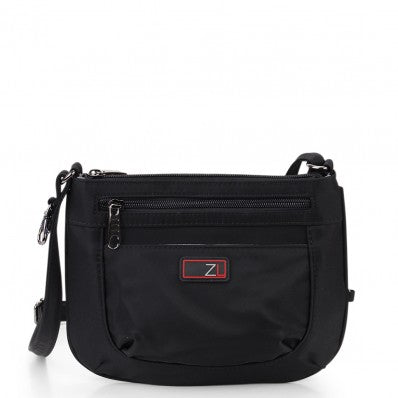 ZOOMLITE ANTI-THEFT MINI CROSSBODY ORGANISER BAG BLACK