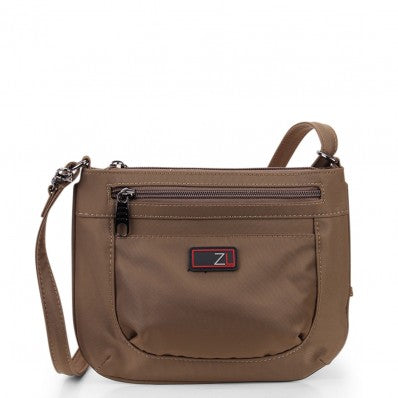 ZOOMLITE ANTI-THEFT MINI CROSSBODY ORGANISER BAG KHAKI BROWN