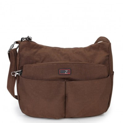 ZOOMLITE ANTI-THEFT CROSSBODY SHOULDER BAG KHAKI BROWN