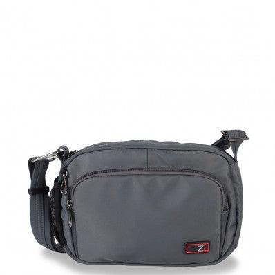 ZOOMLITE ANTI-THEFT ESSENTIALS TRAVEL CROSSBODY BAG GREY