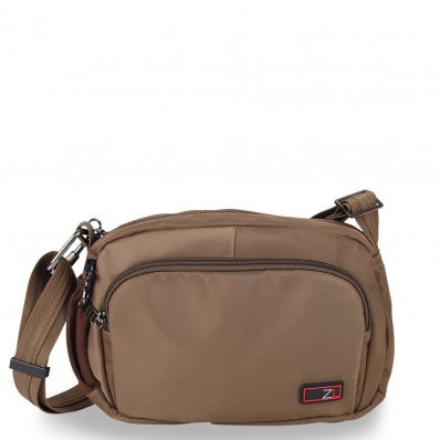 ZOOMLITE ANTI-THEFT ESSENTIALS TRAVEL CROSSBODY BAG KHAKI BROWN