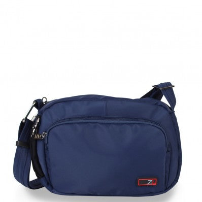 ZOOMLITE ANTI-THEFT ESSENTIALS TRAVEL CROSSBODY BAG NAVY BLUE