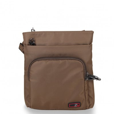 ZOOMLITE ANTI-THEFT EVERYDAY CROSSBODY ORGANISER BAG KHAKI BROWN