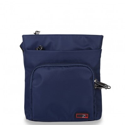 ZOOMLITE ANTI-THEFT EVERYDAY CROSSBODY ORGANISER BAG NAVY BLUE