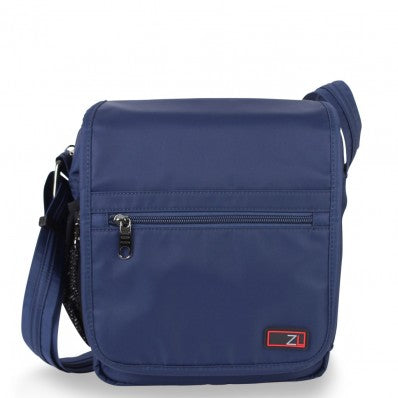 ZOOMLITE ANTI-THEFT FLAP MESSENGER BAG NAVY BLUE