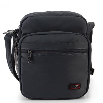 ZOOMLITE METROSHIELD ANTI-THEFT MESSENGER BAG GREY