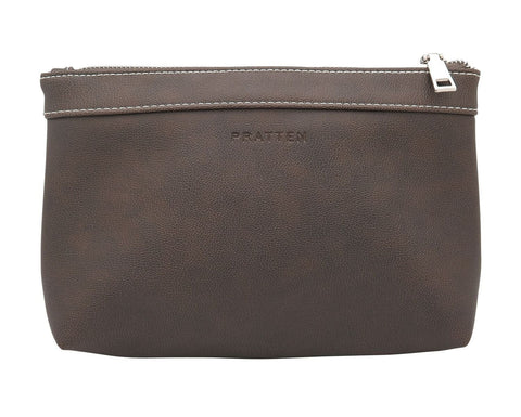 PRATTEN Zip Pouch Oil Brown