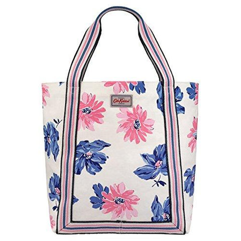 Cath Kidston Tote Shoulder Bag Blue and Pink Floral Print