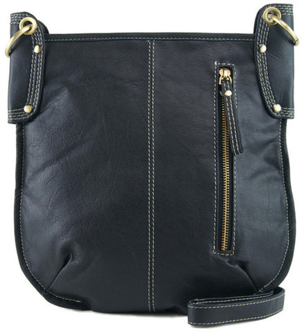 MANZONI Leather Crossbody Bag A132 Black