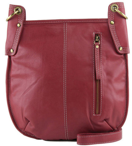 MANZONI Leather Crossbody Bag A132 Persimmon Red