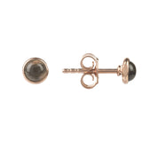 LATELITA LONDON Petite Stud Earring Rosegold Smokey Quartz Hydro Earrings