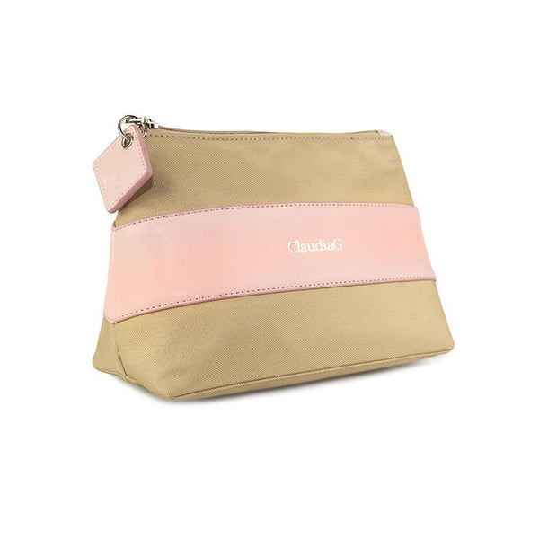 ClaudiaG Leather Beauty Pouch Rose Pink