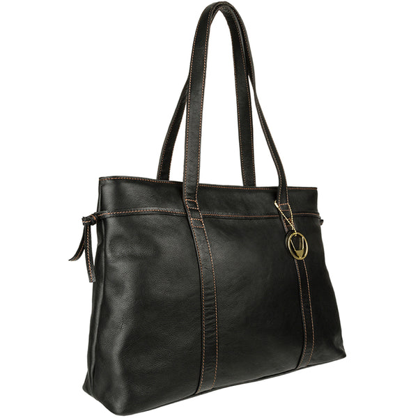 Hidesign Mina Classic Leather Shoulder Bag Black