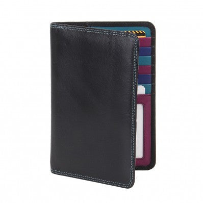 ZOOMLITE Leather Adele Slim Passport Wallet Black