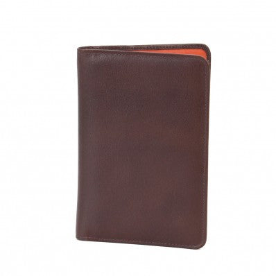 ZOOMLITE Leather Adele Slim Passport Wallet Chocolate