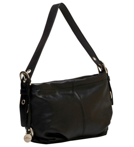 ALLORA Adele Leather Shoulder Bag Black