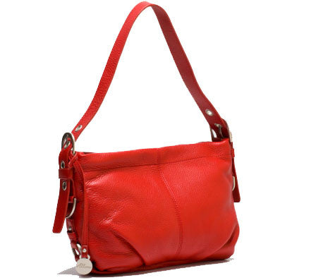 ALLORA Adele Leather Shoulder Bag Red