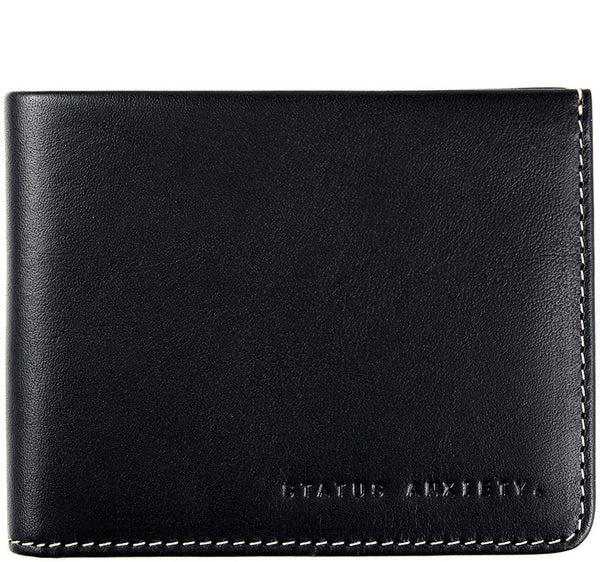 STATUS ANXIETY Alfred Leather Wallet Black