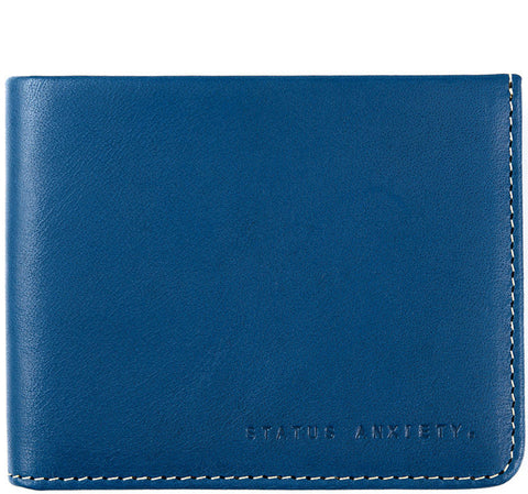 STATUS ANXIETY Alfred Leather Wallet Blue