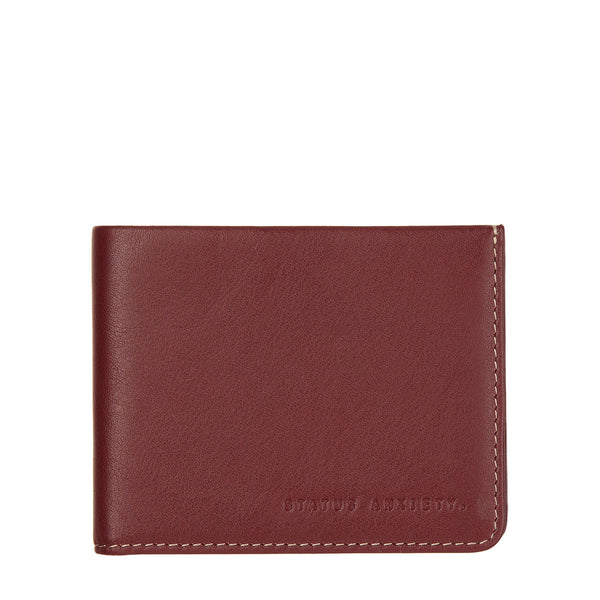 STATUS ANXIETY Alfred Leather Wallet Cognac Brown