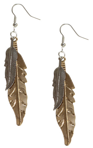 AMANO STUDIO Mixed Metal Feather Earrings