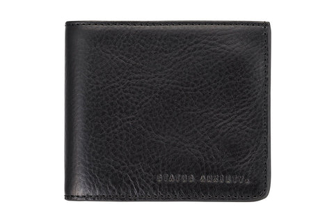STATUS ANXIETY Amos Leather Wallet Black